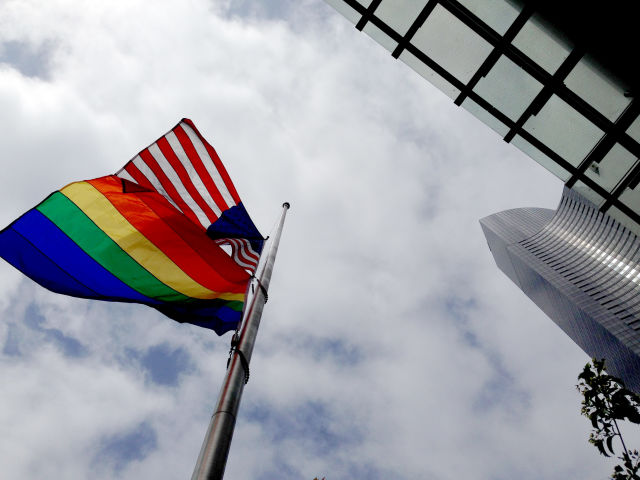 Pride american flag city of seattle wbm0wc