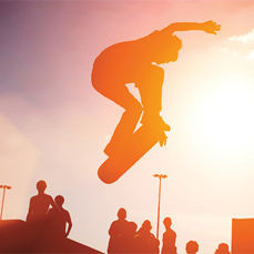 Skateboarder silhouette thumb aurbpv