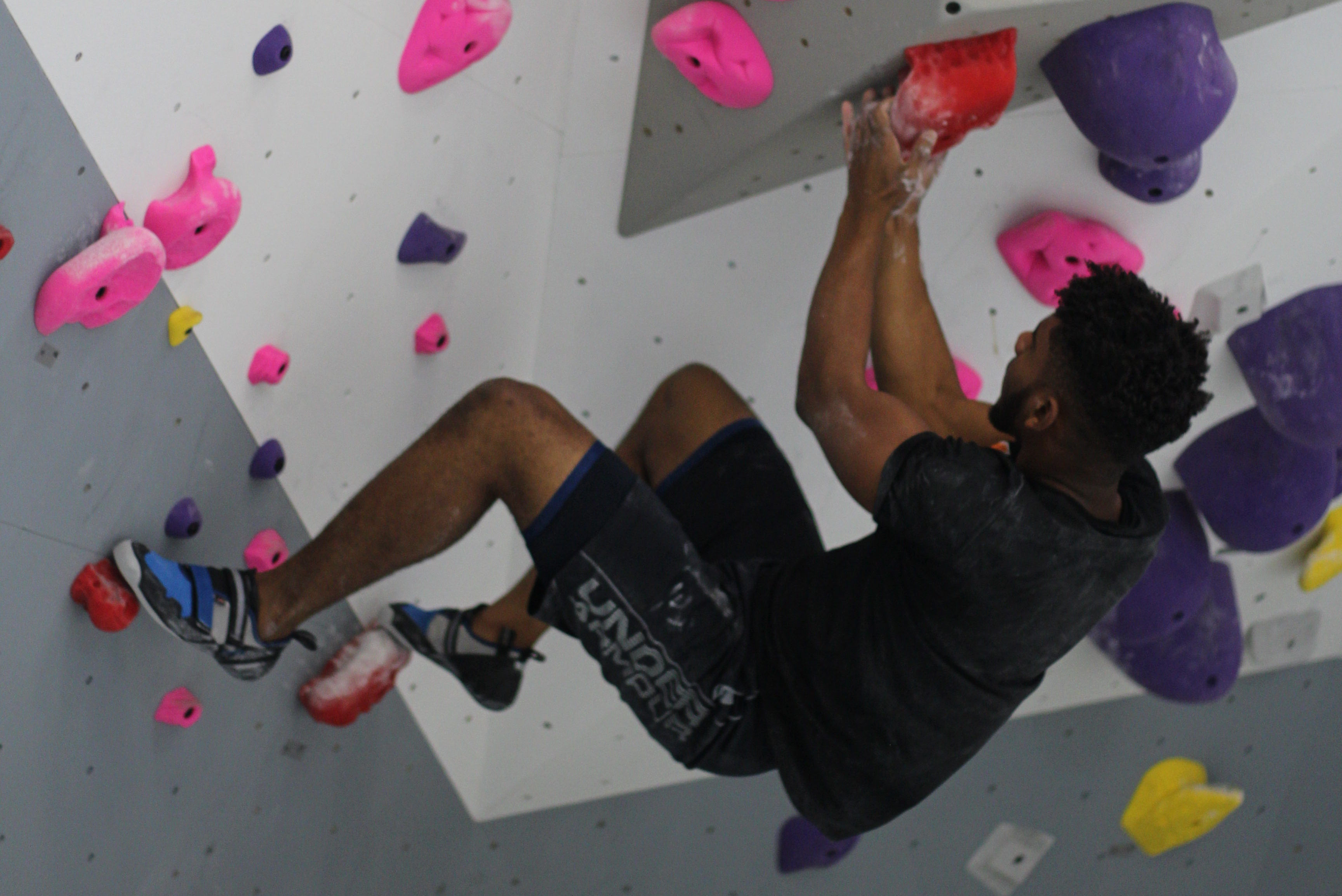 Climing wall testing before grand opening ofgp6r