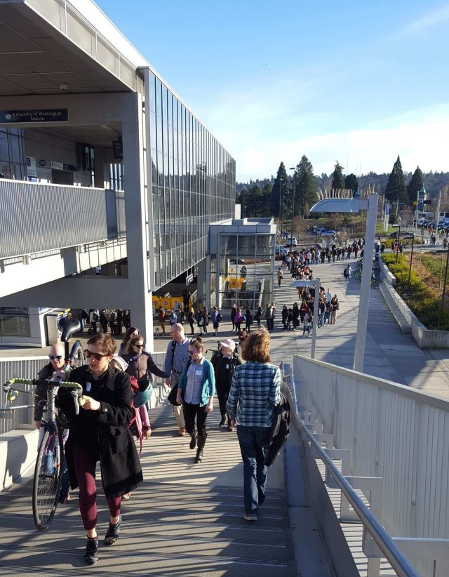 Line university of washington transit escalators stairs light rail vo0kpq