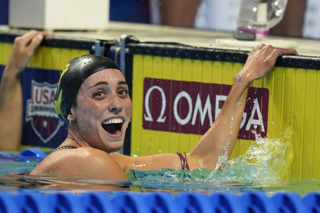 The Sarasota Sharks' Emma Weyant won a silver medal in the women's 400-meter swim finals on July 24.