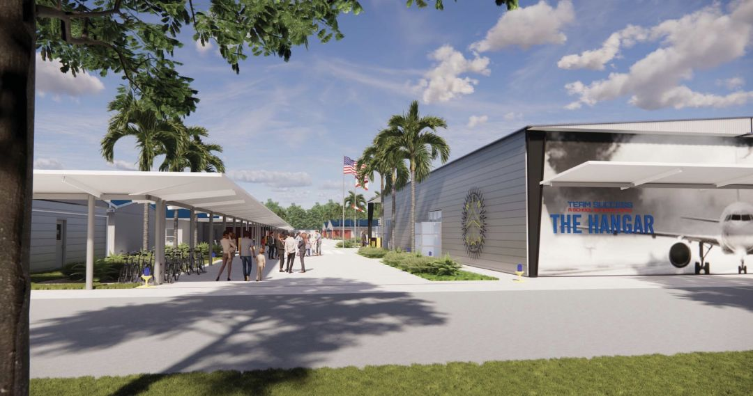 A rendering of Team Success Charter School's new campus.