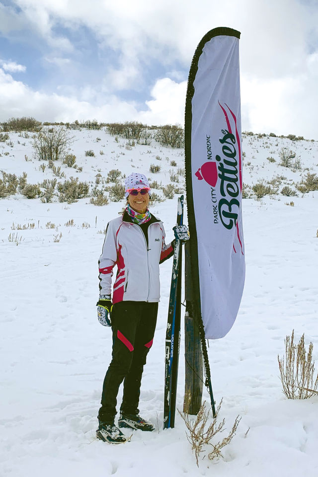 Park City Nordic Betties co-owner Inge Travis at the Quinn's Junction Trailhead for Round Valley