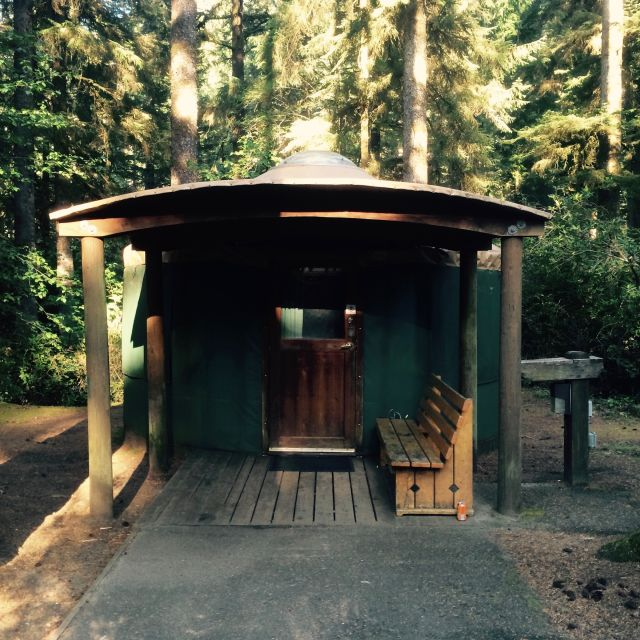 Yurt at Jessie M. Honeyman State Park
