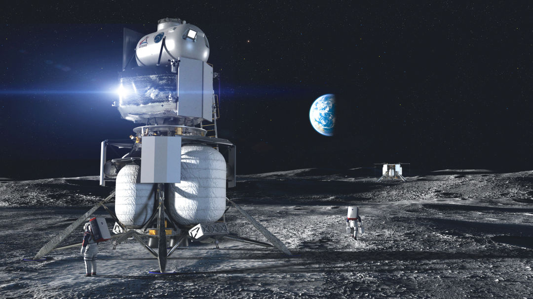 Blue Origin lander on moon