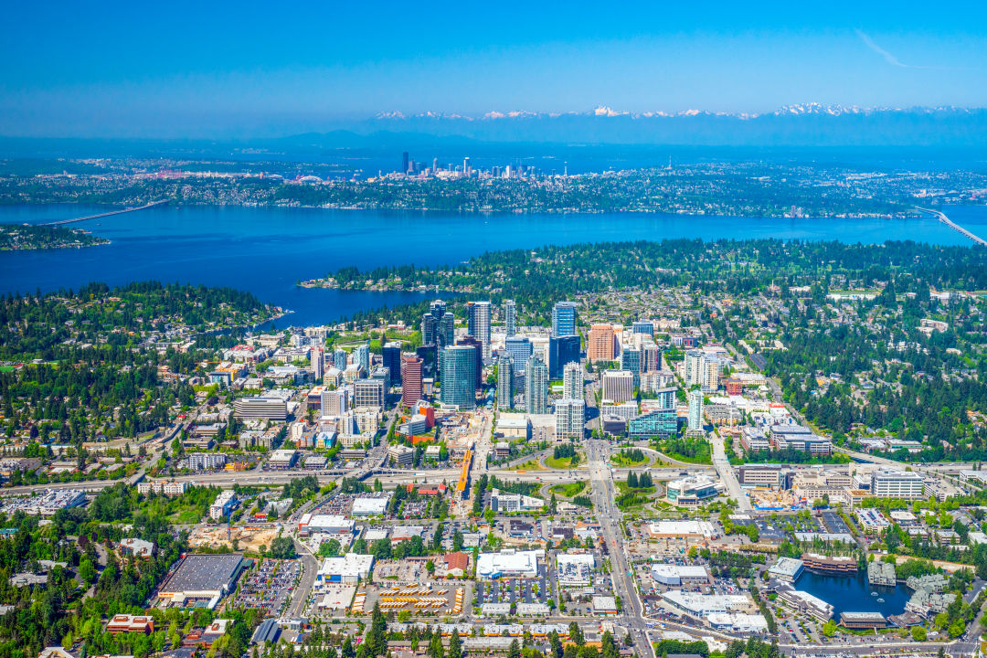 Aerial photo of Bellevue