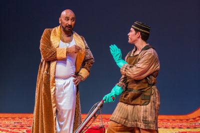 Ashraf sewailam as mustafa with jonathan johnson as lindoro qhuguv