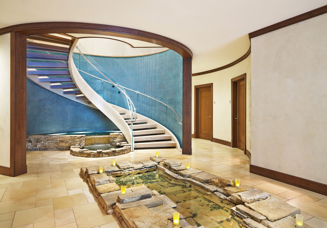 Remède Spa staircase and Tranquility Room