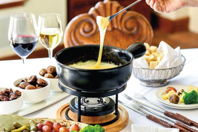Goldener Hirsch Inn cheese fondue