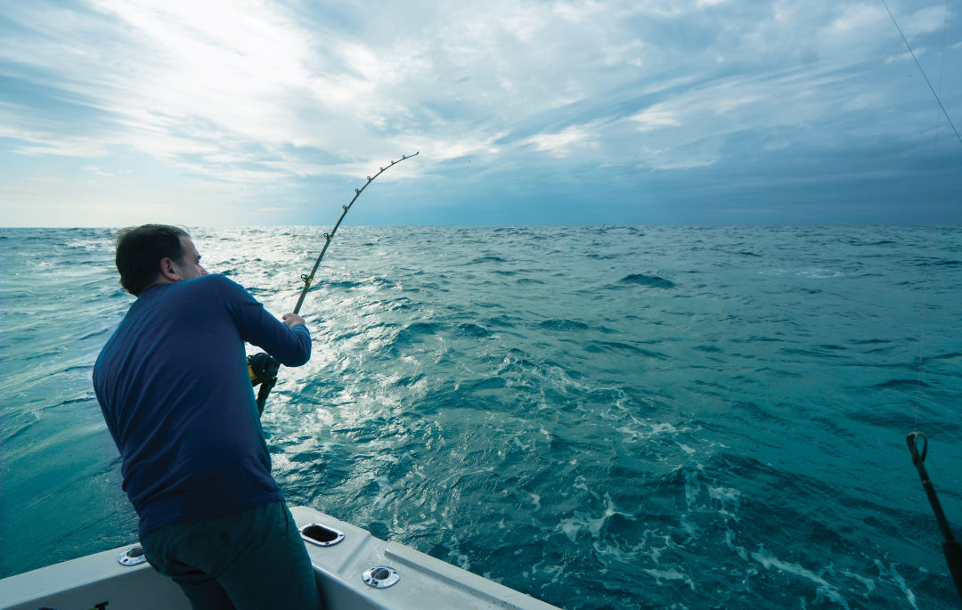 Deep sea fishing trips can take you anywhere from 10 to 150 miles offshore.