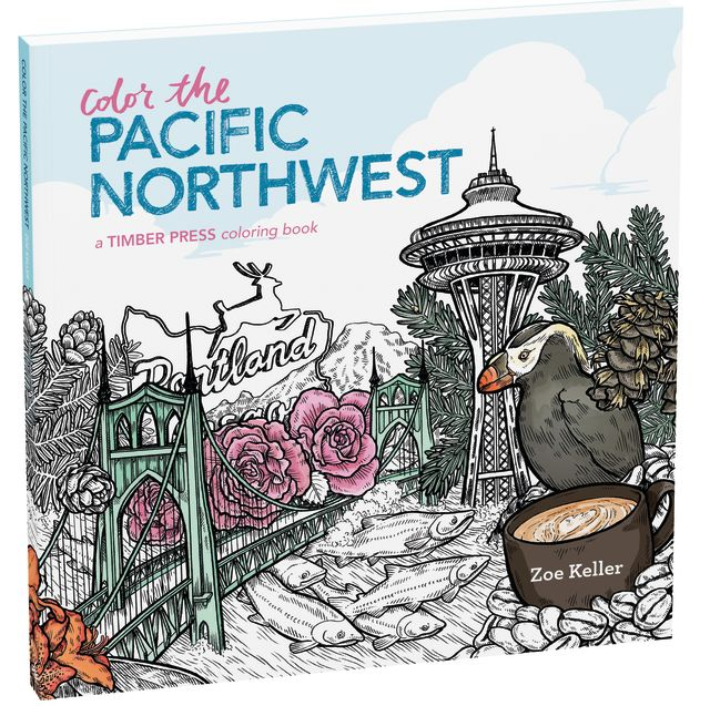 Pomo 0816 trophy case color the pacific northwest coloring book pnoi8e