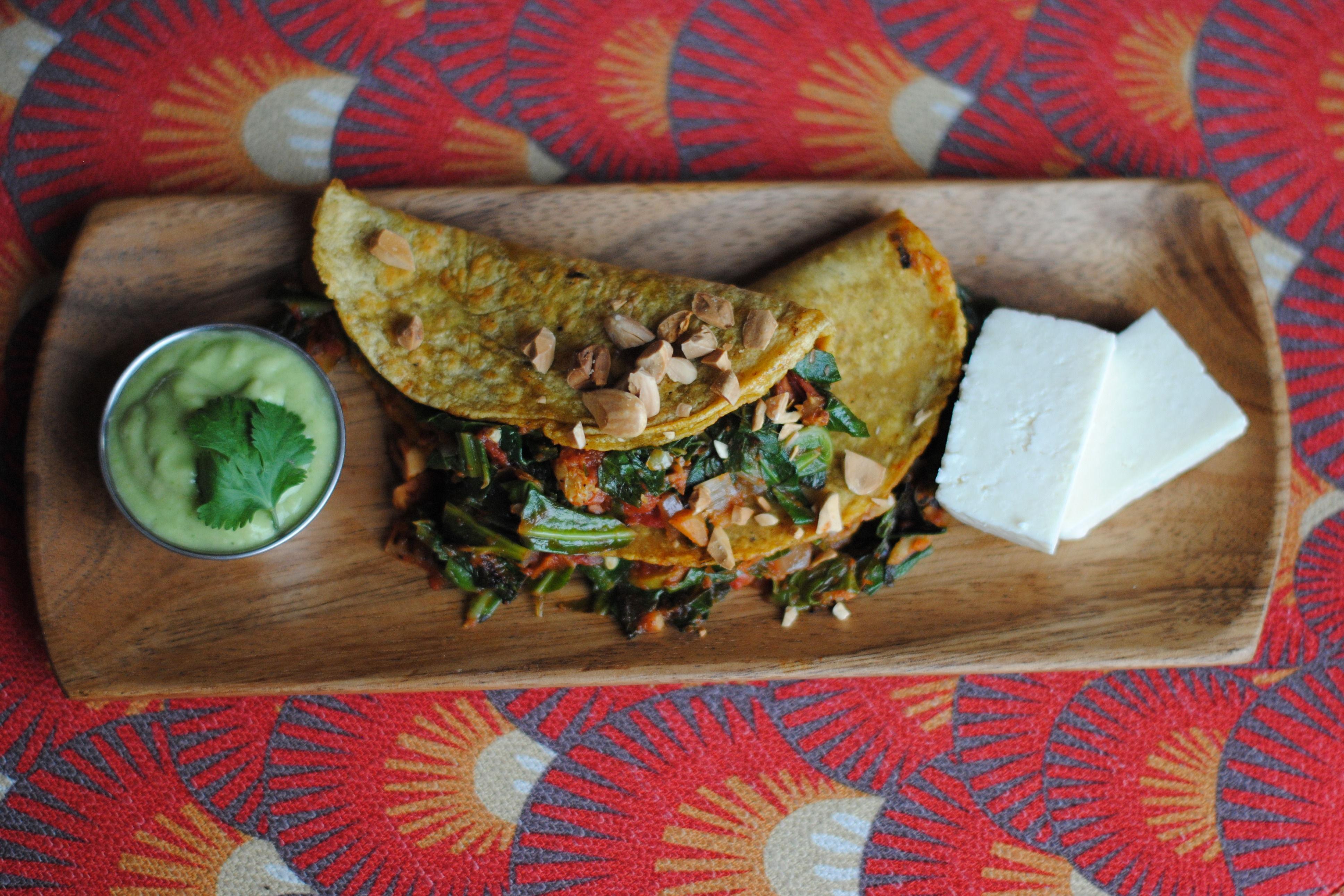 Greens picadillo grilled taco  crcl2y
