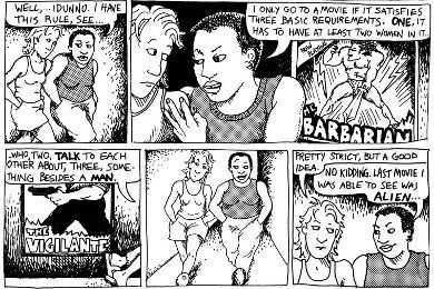 Dykes to watch out for  bechdel test origin  uq1tix