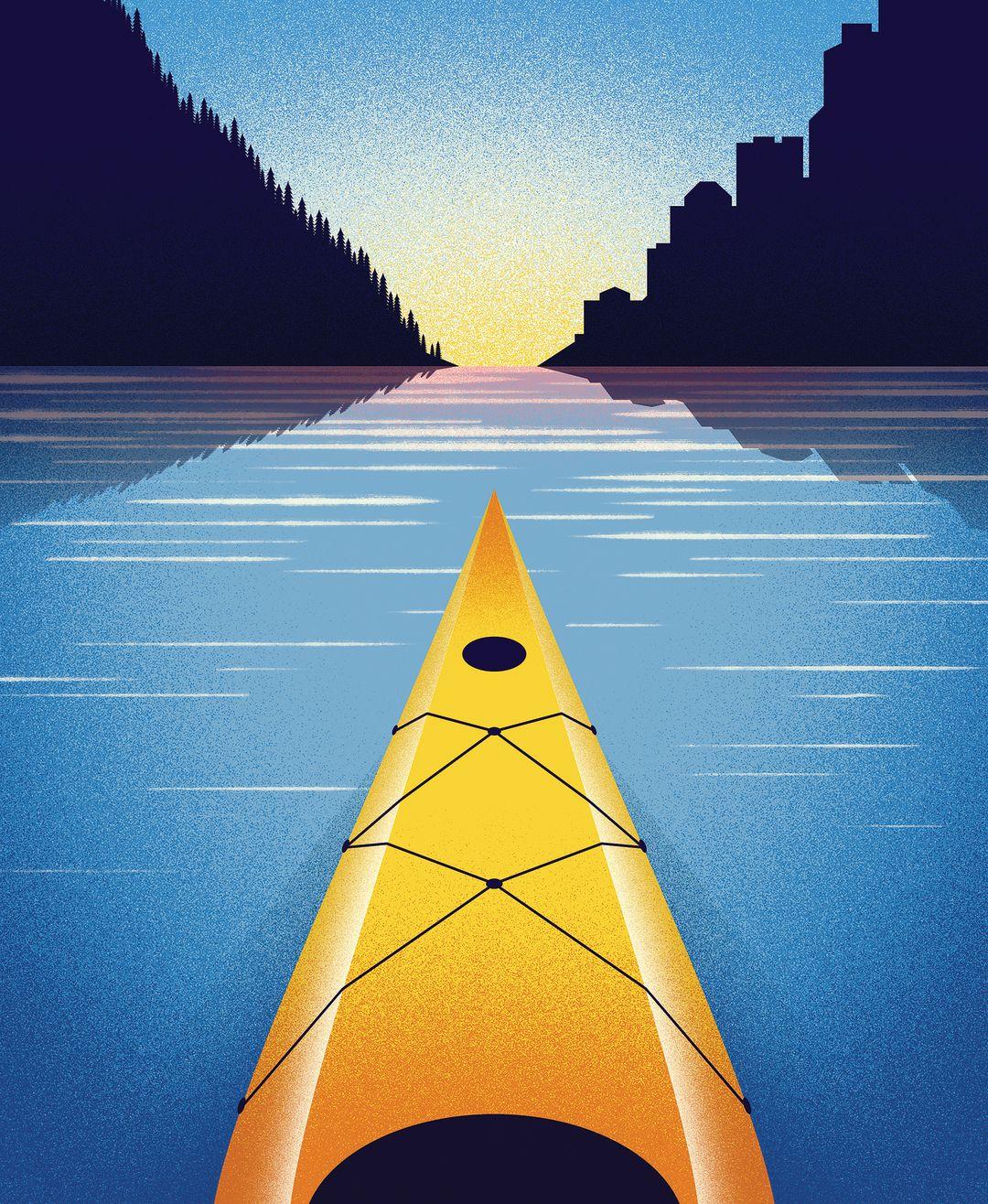 Pomo 0616 essay kayak illustration bwtxrg