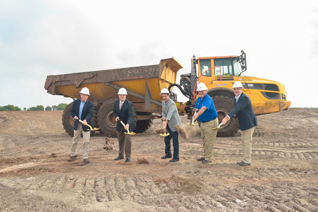 Attendees at the Star Farms at Lakewood Ranch's March 23 groundbreaking included Tony Chiofalo, executive vice-president and CFO of SMR; John Barnott, Manatee County Building and Development Services director; Tony Squitieri, Forestar West Florida Division president; Tim Martin, Forestar West Florida development director; and Robert Price, Forestar West Florida land development manager.
