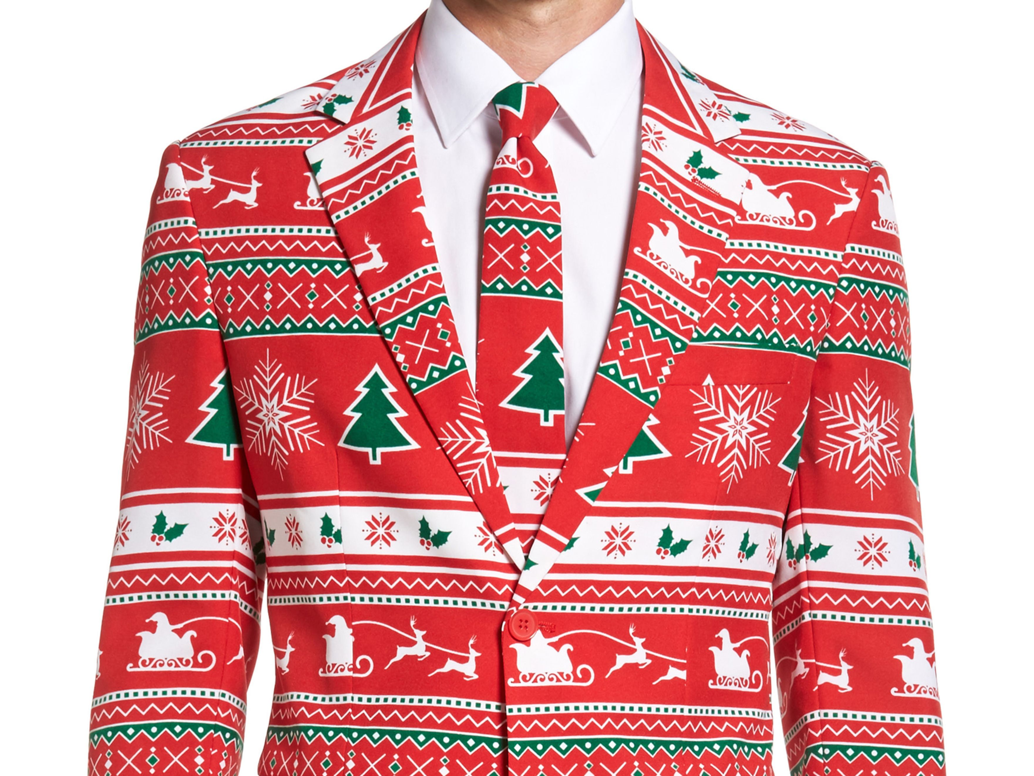 Opposuits  winter wonderland  trim fit two piece suit with tie  99.99 item  5207697 lehggq