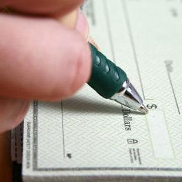 Writing a check ilferz