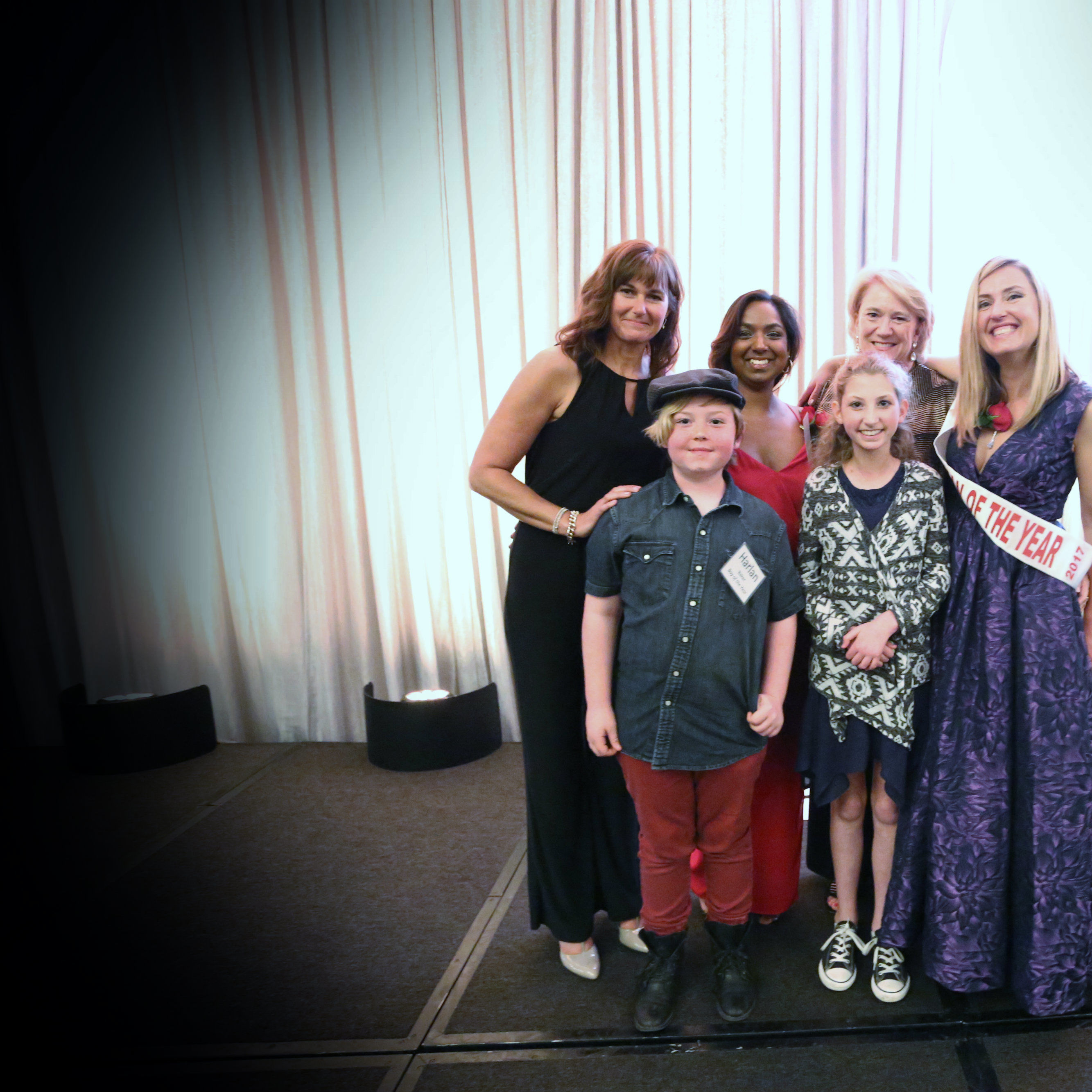 2017 woman of the year candidates christina mcgill  jaymi orser  karen riva and jessamyn mcintyre along with the 2017 boy   girl of the year  harlan baker and rachael weinstein w17ej3