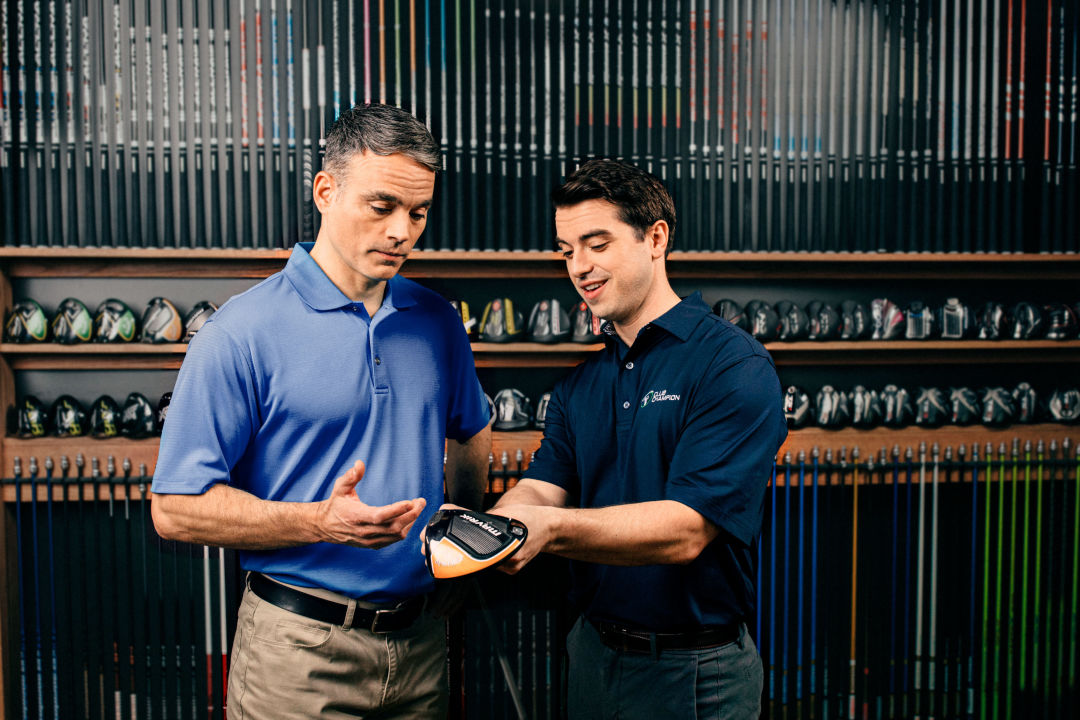 Club Champion fits, sells and builds custom golf clubs