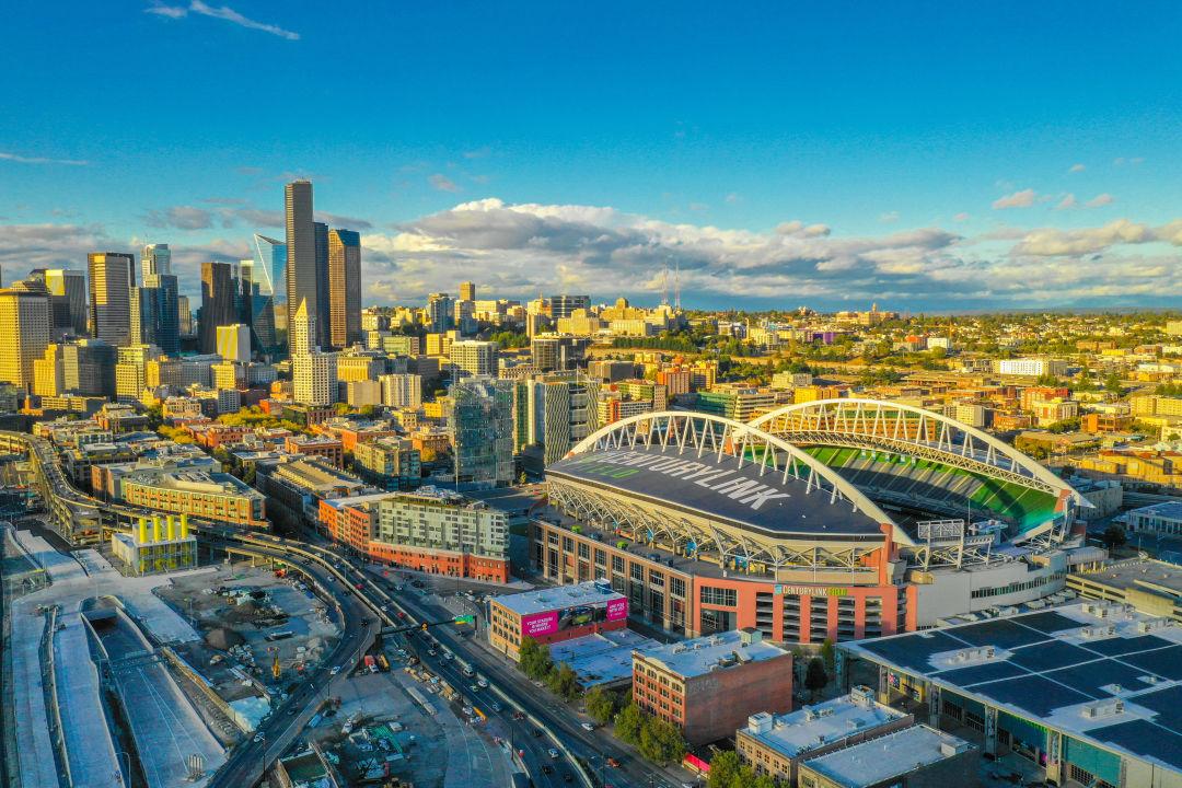 CenturyLink Field and the Seattle skyline