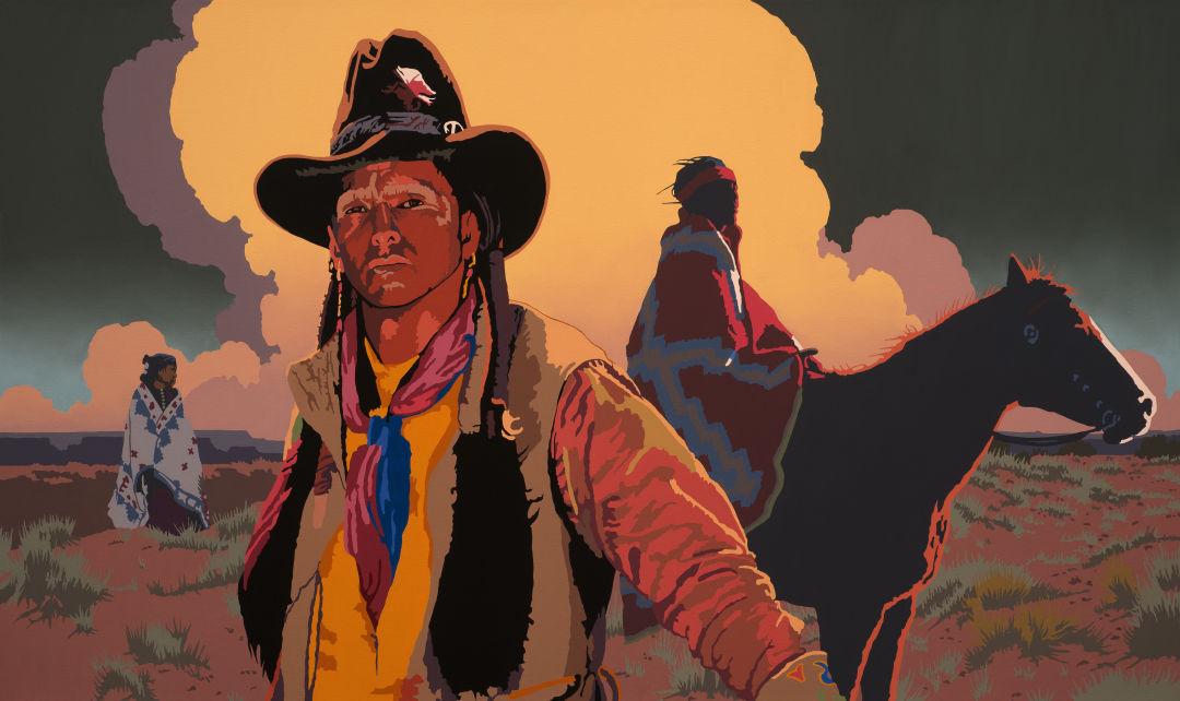 Billy scheck  the sand hills  oil on canvas  30h x 50w yuwhzf