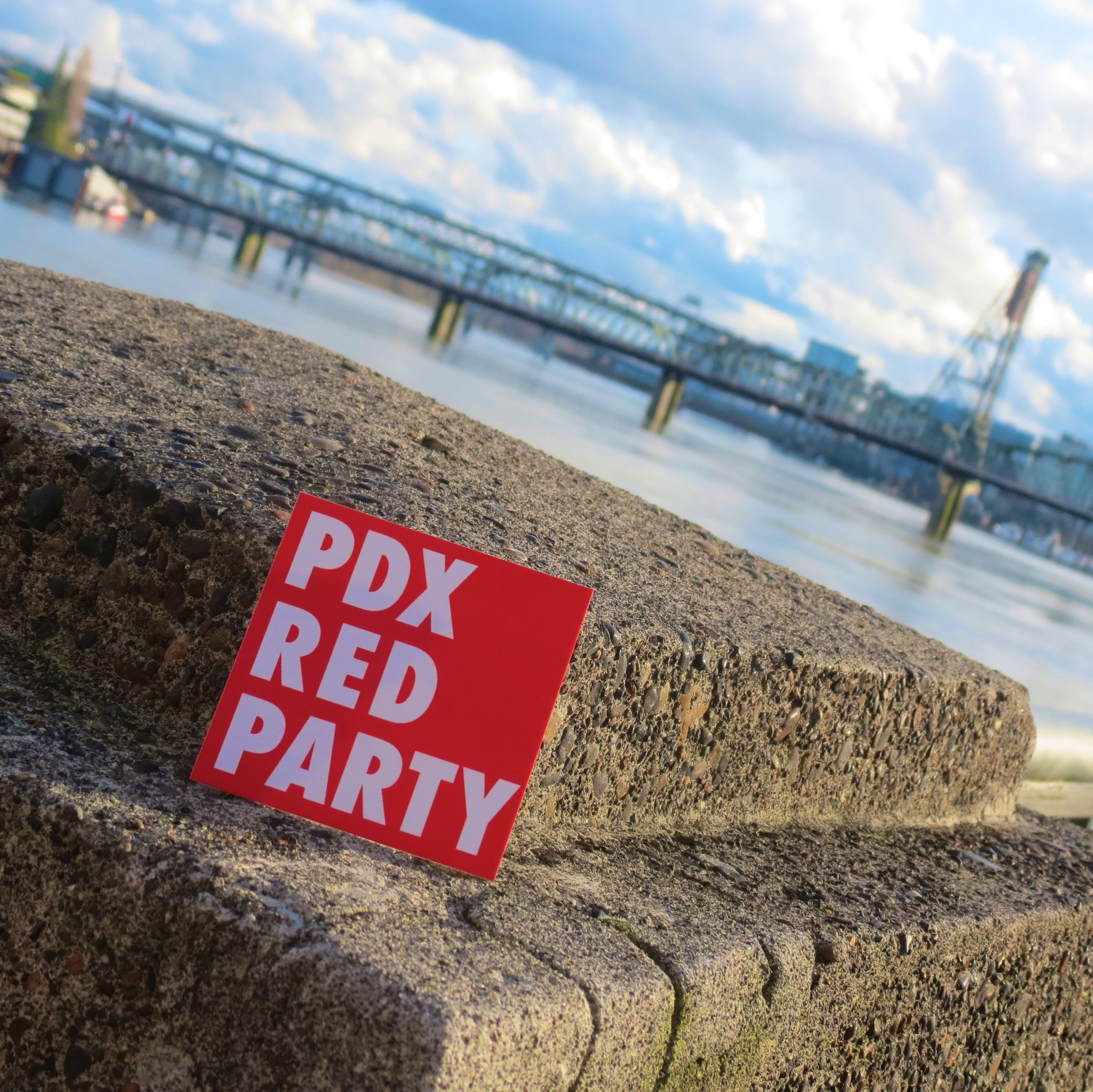 Pdx red party bridge city   h. mcgrath kor3su