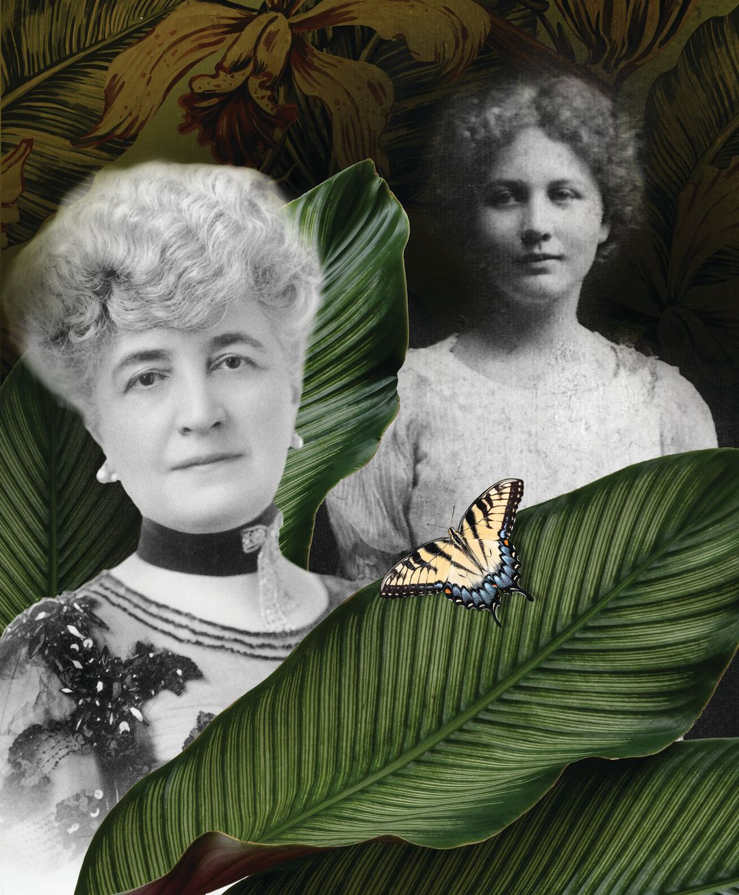 Bertha Palmer and a young Marie Selby.