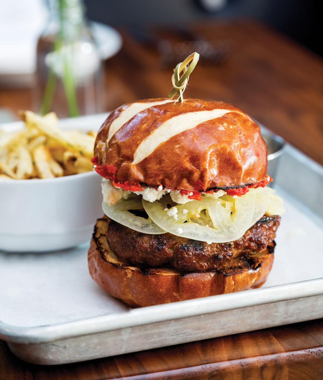 0417 on the table gulf coast cuisine lamb burger jbxbcr