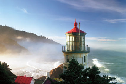 Oregon coast lighthouse j5iwtz ei9ioe