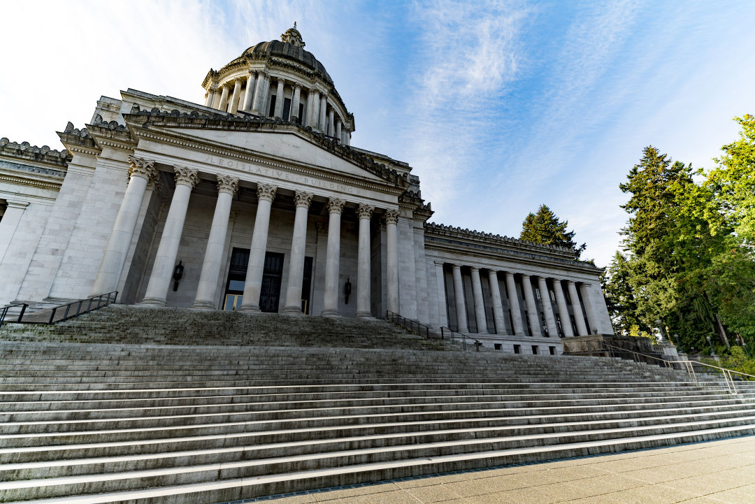 The capitol building in Olympia
