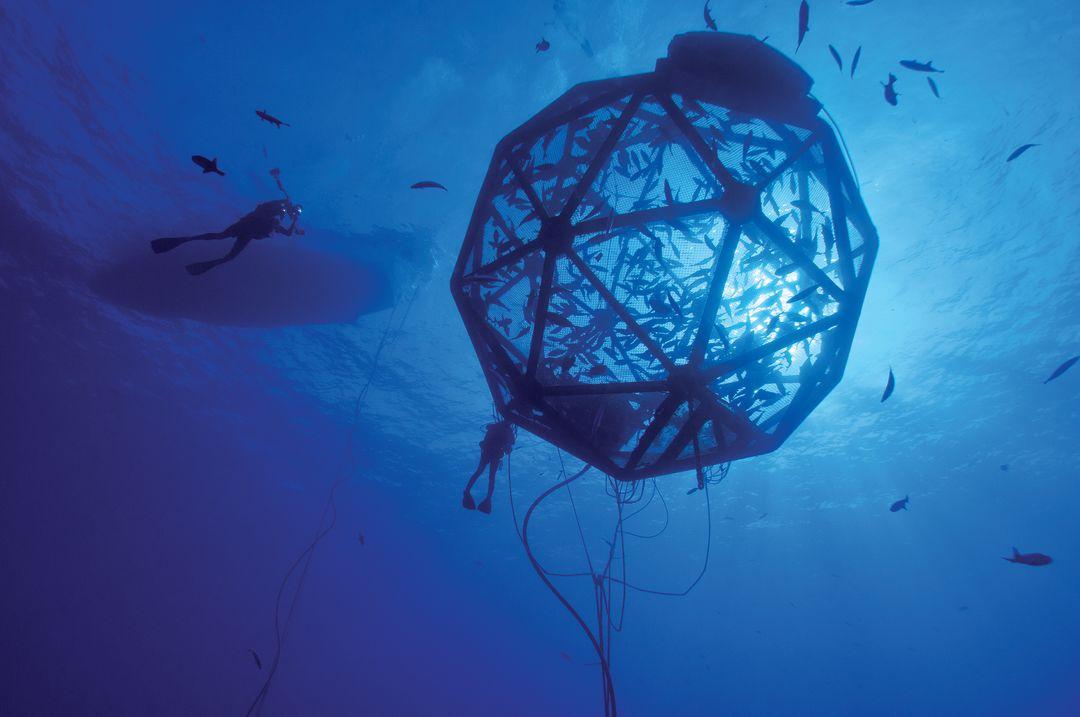 An Ocean Era Aquapod located in the waters around Hawaii.