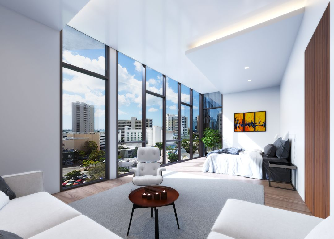A rendering of one of the condos in The Collection