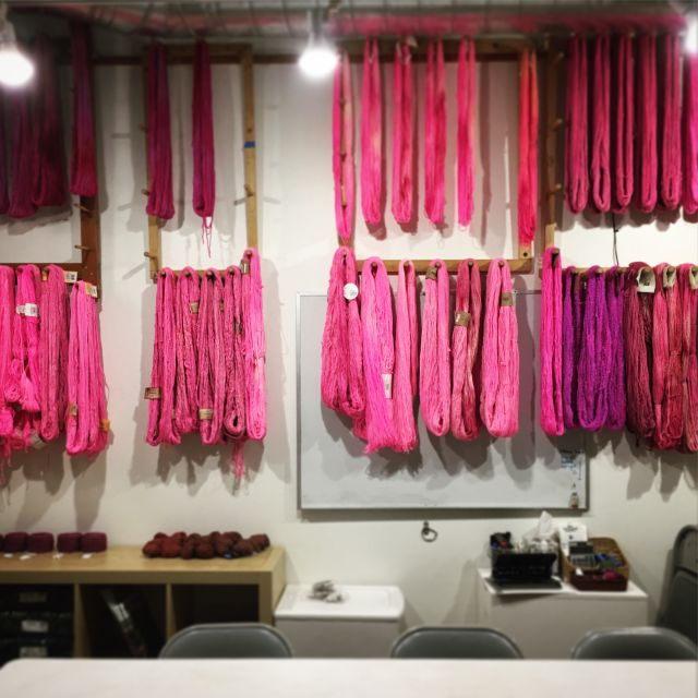 Dyed yarn klyb0p