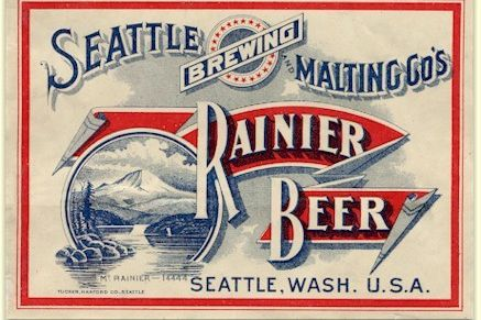 Rainier beer label seattle c.1906 d2qzjd
