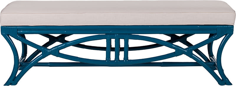 B9070 bridgeport rattan bench surf blue l mnxltx