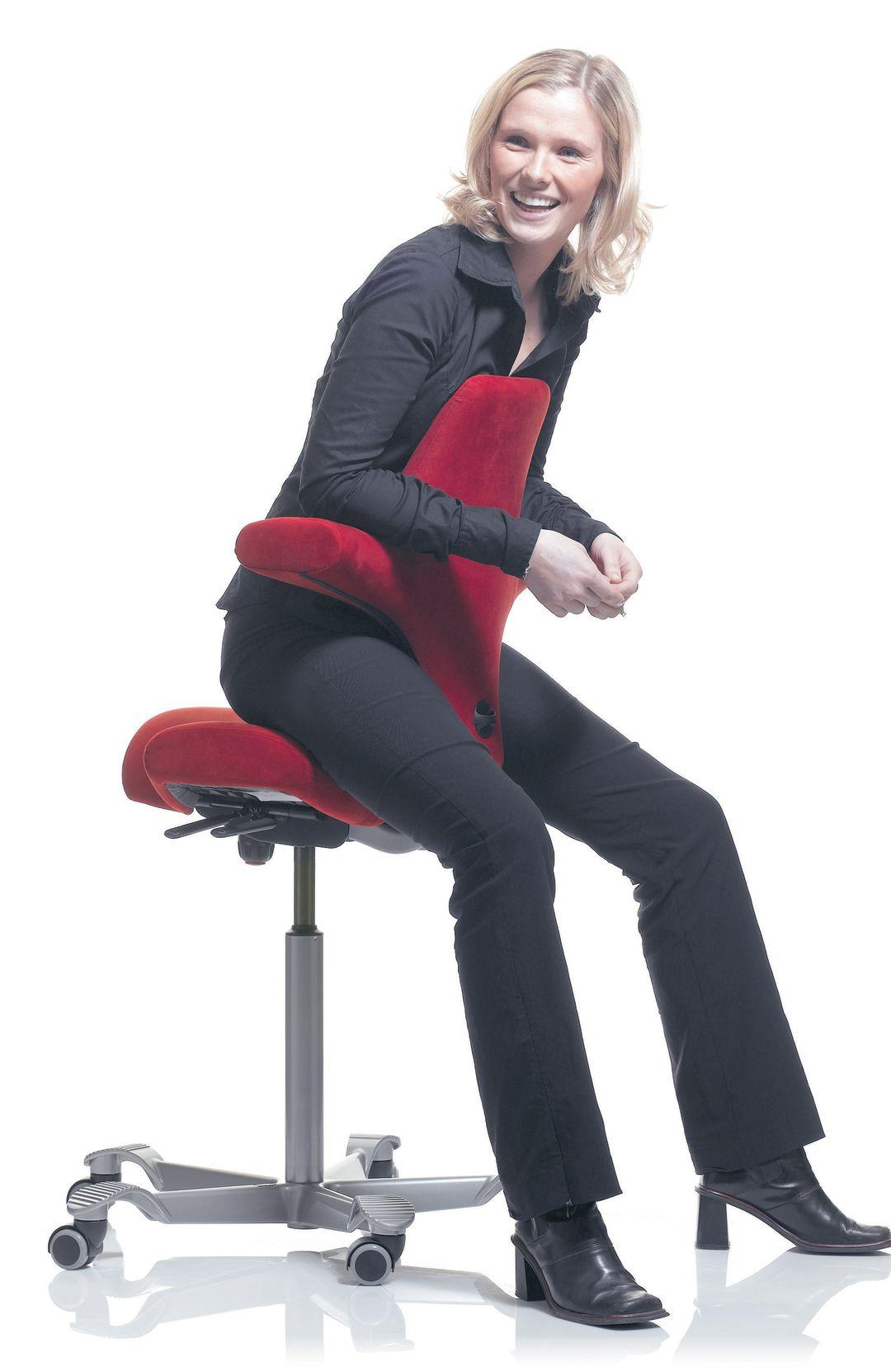 Hag Capisco Leder 8106 Antigo Soft Schwarz Gestell Silber 2 Gyepku. HAG  Capisco Office Chair