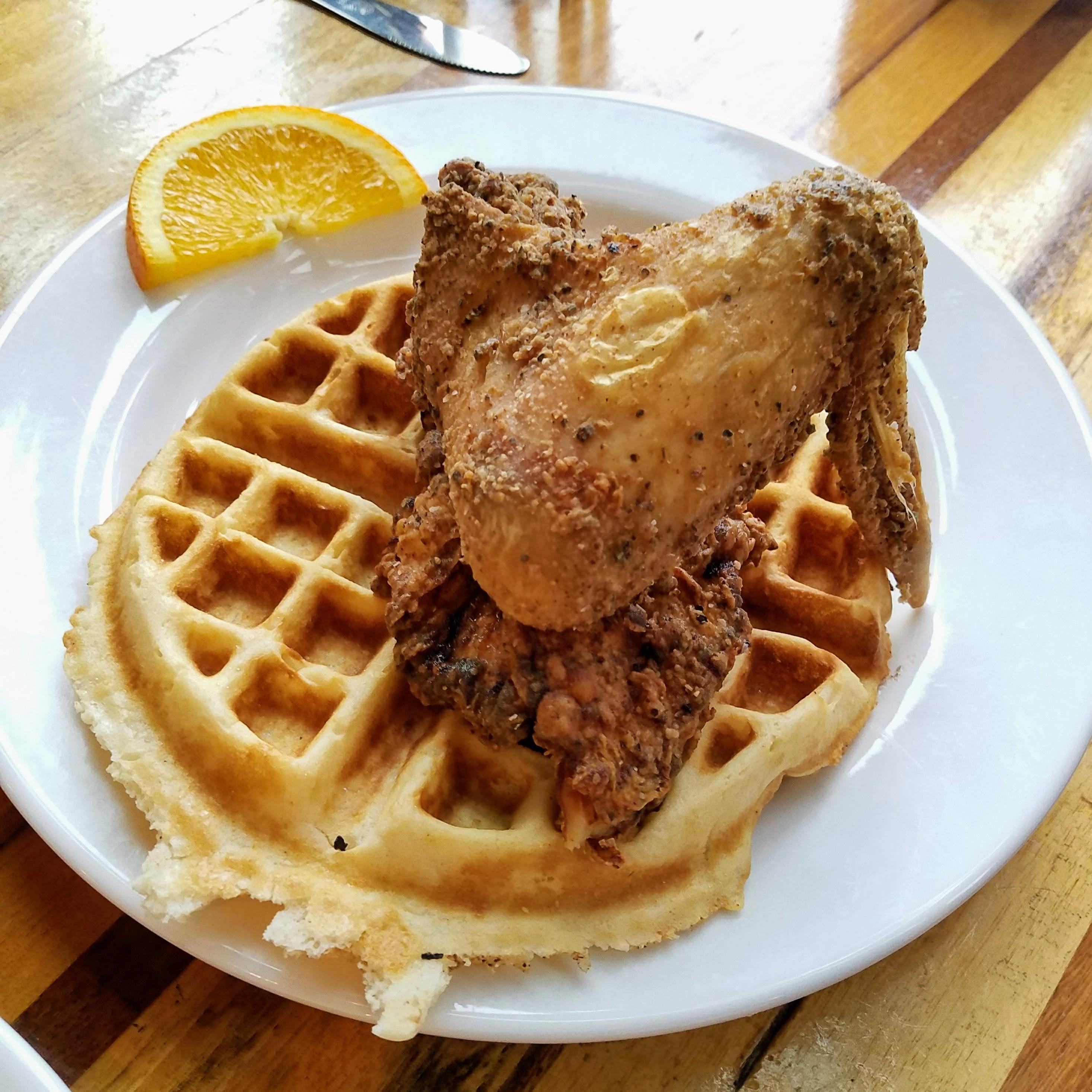 Sweet jam chicken and waffle u3zxyu