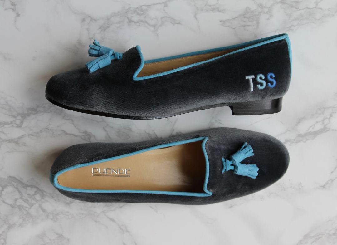 Duende bespoke tassel loafer with monogram ladies uajg4w