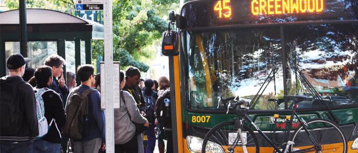 Public transit buses greenwood seattle city hegxxl