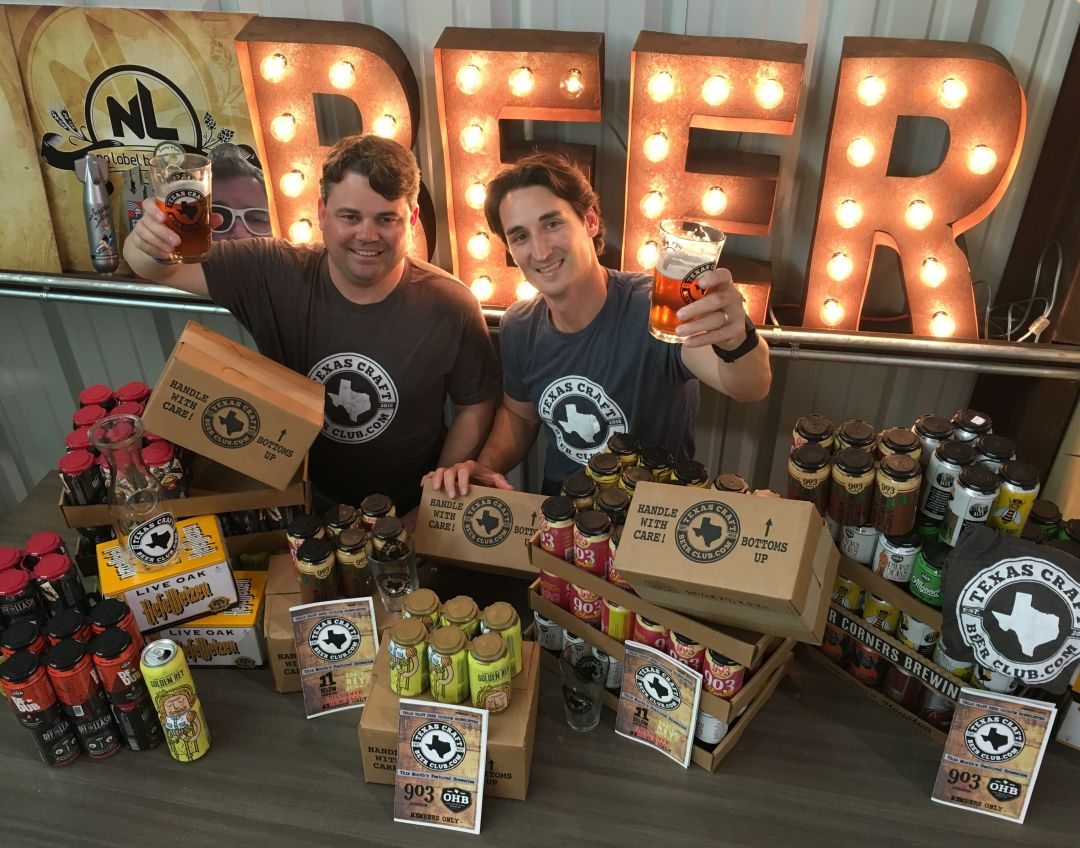 Marc atnipp  left  and rob banzhaf  right   co owners texas craft beer club photo courtesy texas craft beer club htnzu2