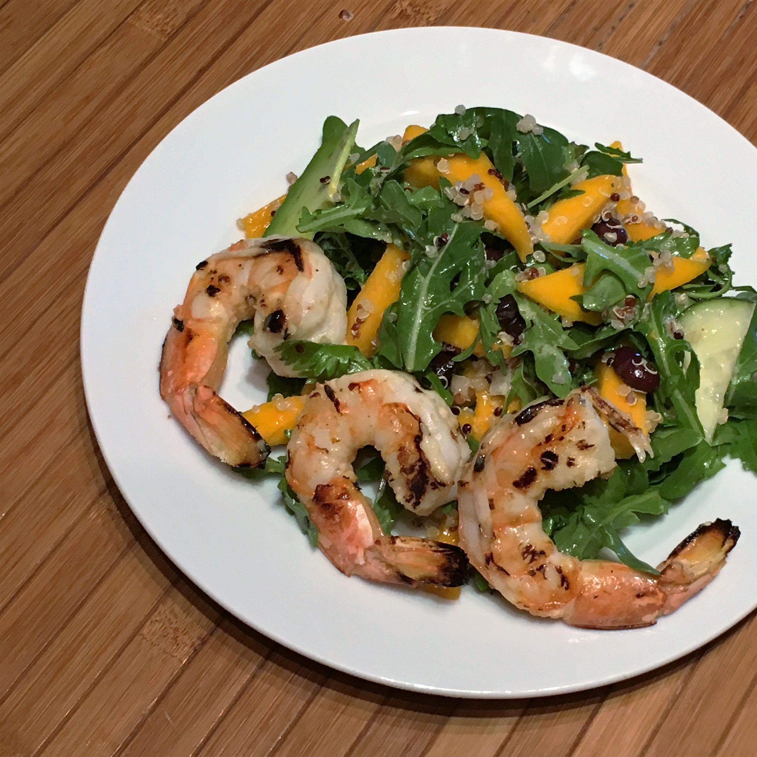 Mango salad w shrimp y3socb