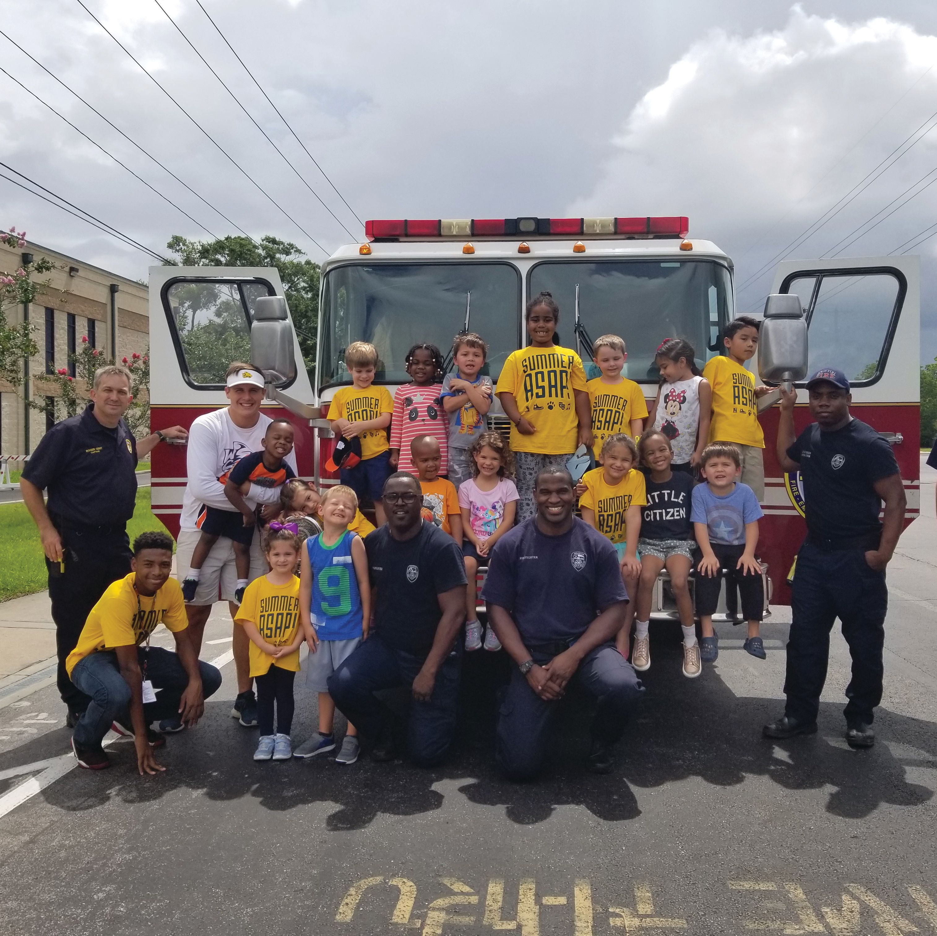 Westbury christian summer asap campers with houston fire department tfyzxp