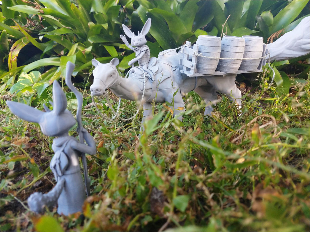 A 3D-printed scene