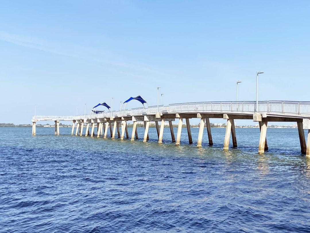 The recently renovated Tony Saprito Fishing Pier