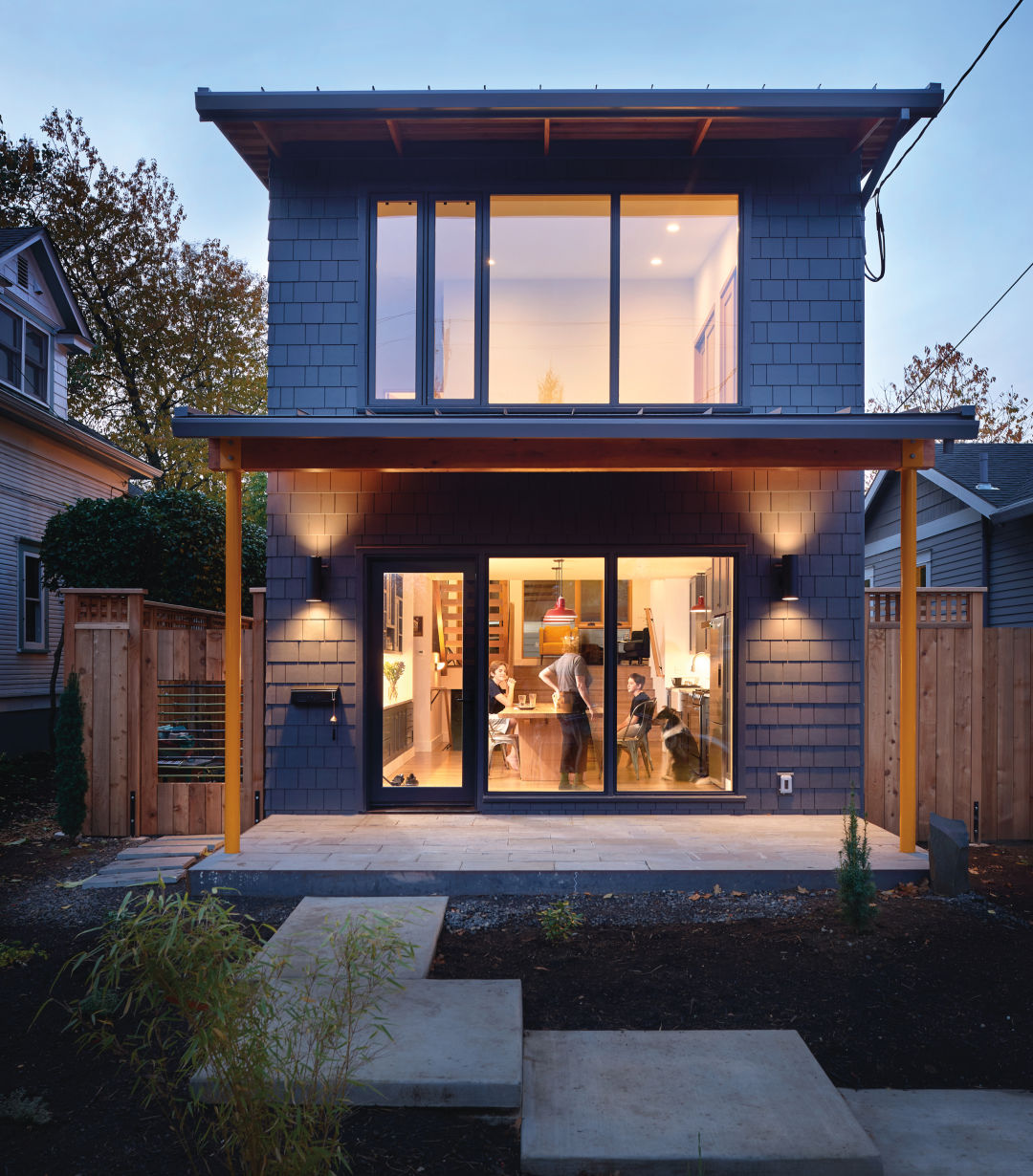 A pair of downsizers give the portland skinny house a for The design home
