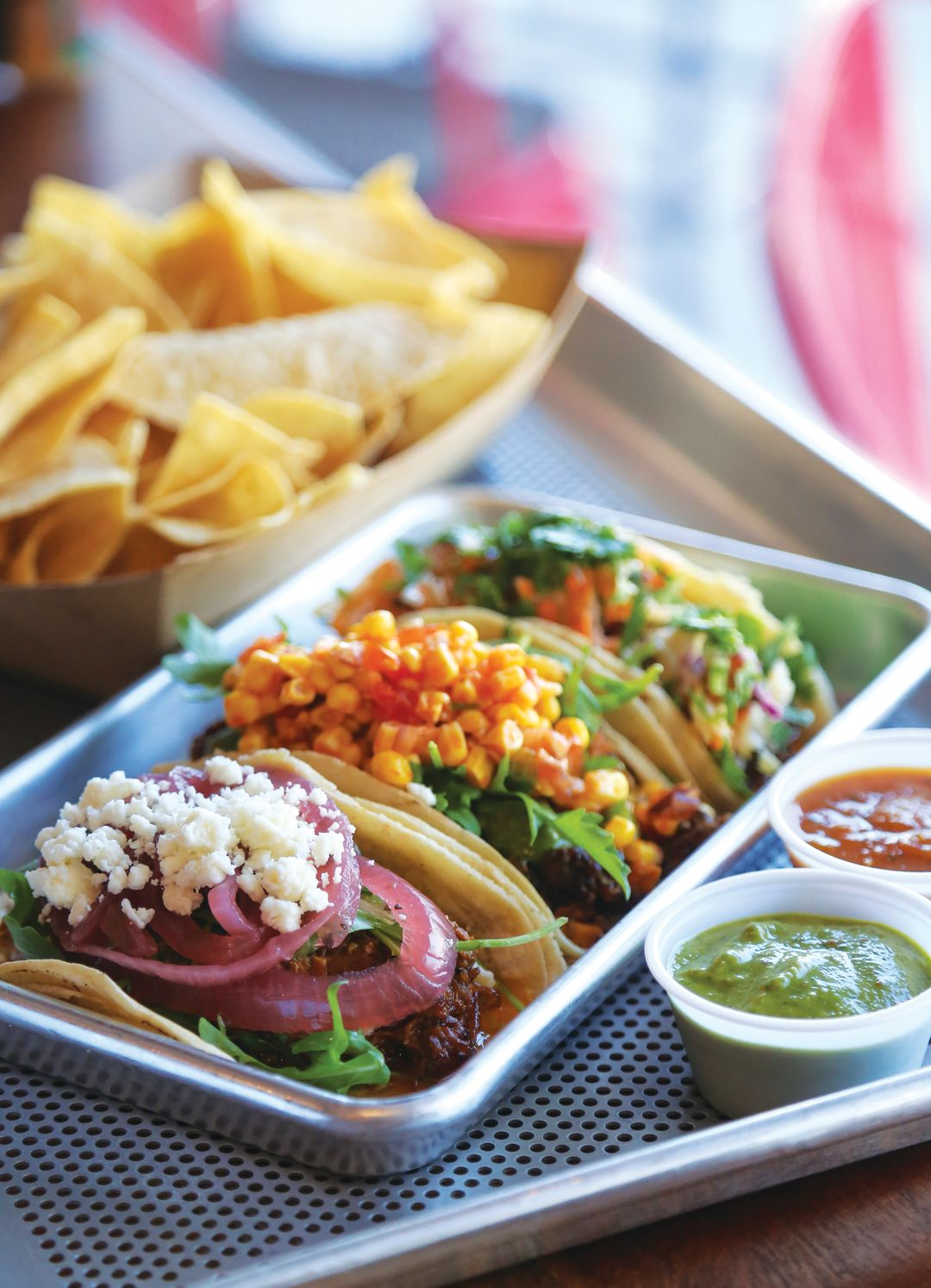The Three Taco Special At Screaming Goat Taqueria