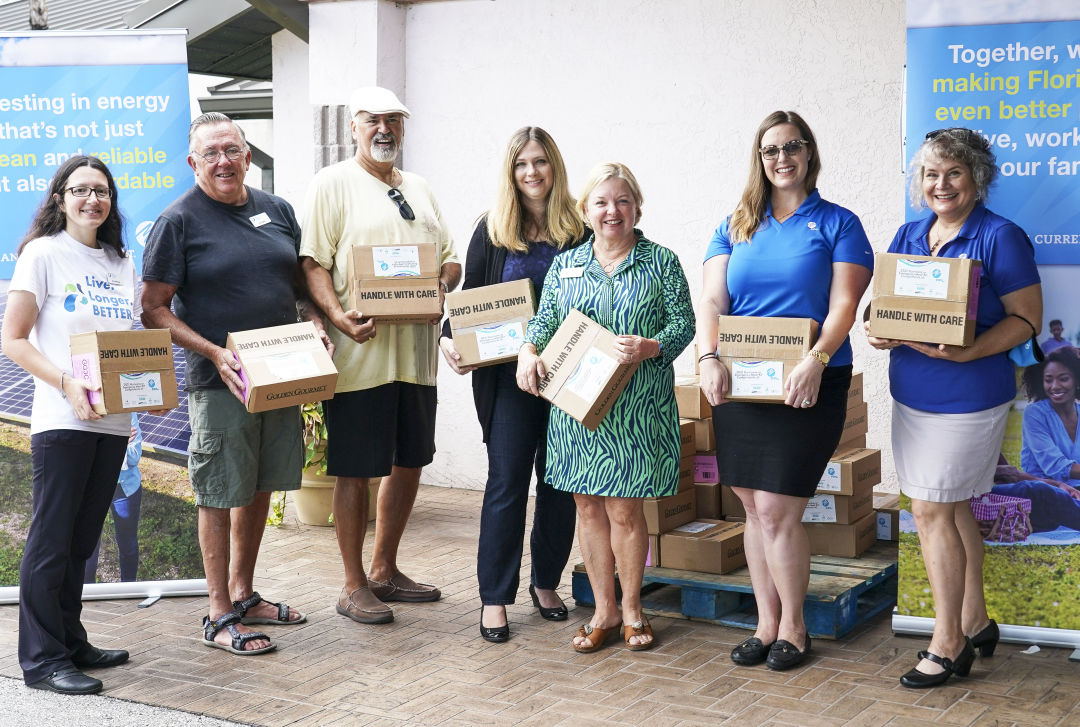 Florida Power & Light Company (FPL) and Senior Friendship Centers partnered to pack and distribute hurricane kits to 200 seniors in Sarasota County