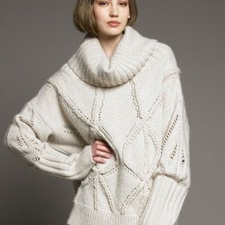 09chunky cable sweater ofpjo9