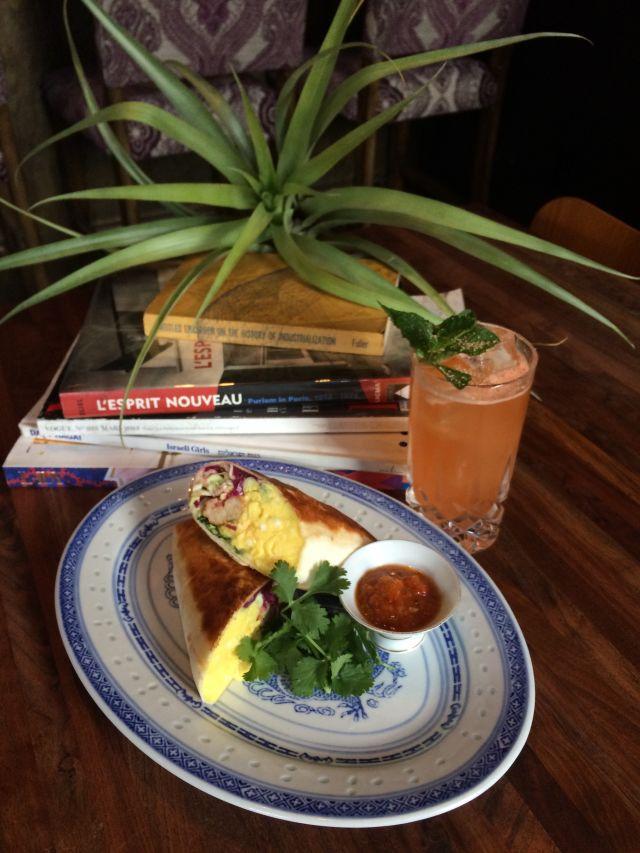 Shrimp and kimchi breakfast burrito urt910