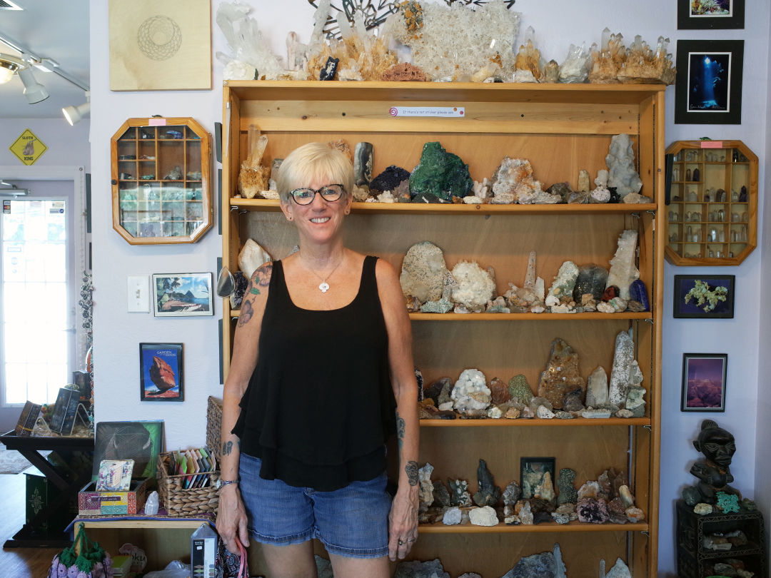 The Crystal Cave owner Susan Moen